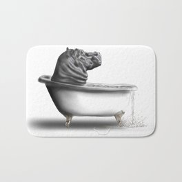 Hippo in Bath Badematte