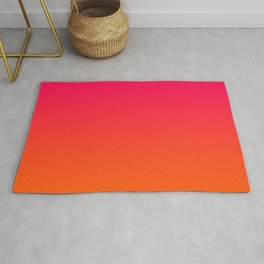 Bright Pink and Orange Ombre Rug