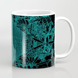 Apollo Rocket Booster - Green Neon Coffee Mug