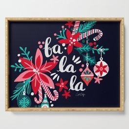 Fa La La Bouquet – Navy Serving Tray
