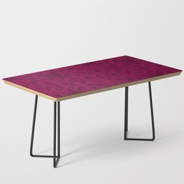 Abstract Minimalism in Raspberry Coffee Table