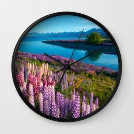 Lake Tekapo, New Zealand Wall Clock