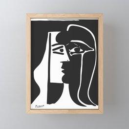 Pablo Picasso Kiss 1979 Artwork Reproduction For T Shirt, Framed Prints Framed Mini Art Print