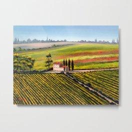 Vineyards In Tuscany Italy Metal Print