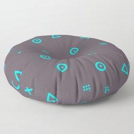 Happy Particles - Grey Floor Pillow