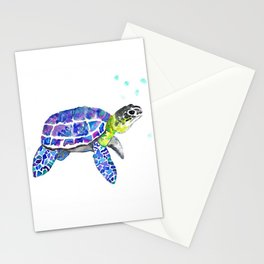 Tropical Turtle Stationery Cards