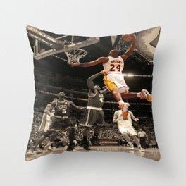 K.B, Kobe#Bryant Dunks Basketball Sports Poster Throw Pillow
