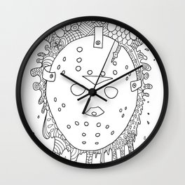 halloween the 13th jason voorhees horror lasoffittadiste Wall Clock