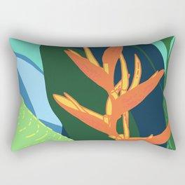 Quiet in Paradise - Tropical Bird of Paradise Illustration Rectangular Pillow