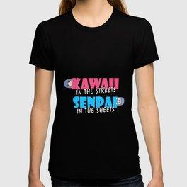 Kawaii In The Streets Senpai In The Sheets Manga Meme Kawaii Anime Gift T-shirt