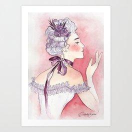 Purple Ribbon Art Print