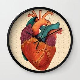 Anatomical Human Heart - Textbook Color Wall Clock