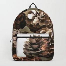 Pine Cones Organic Christmas Ornaments Backpack