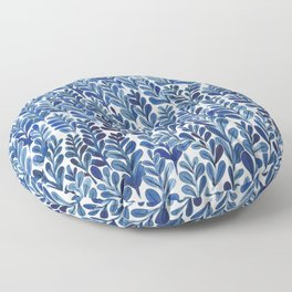 Indigo blues Floor Pillow