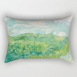 Vincent van Gogh Green Wheat Fields, Auvers 1890 Painting Rectangular Pillow