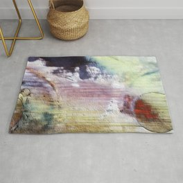 Painted wood abstract Rug