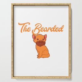 """Unique Adult Humor Shirt For Adults """"Respect The Bearded Pussy"""" T-shirt Design Naughty Fuck Sex Serving Tray"""