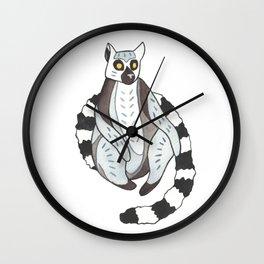 Lemur sitting Wall Clock