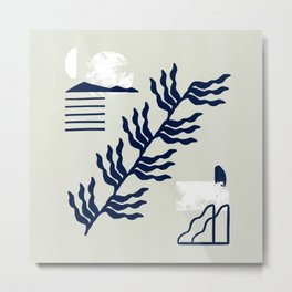 Mixture of shapes and natural world artwork  Metal Print