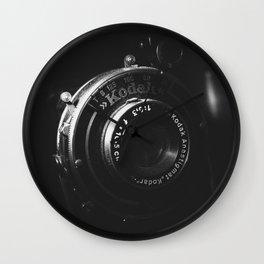 A Close-up of a Vintage Kodak Camera | Black & White Photography | Product Photography | Photo Print | Fine Art Print Wall Clock