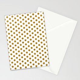 Gold Glitter Polka Dots Stationery Cards