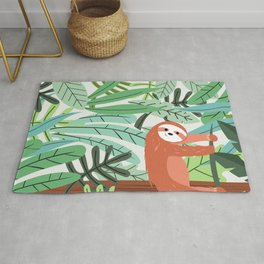 Jungle Sloth Rug