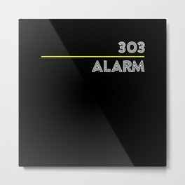 TB 303 Alarm Electronic Acid Music Metal Print