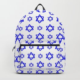 star of david 41 - blue Backpack