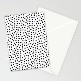 Minimal Black and White Polka Dots Stationery Cards