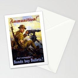 Bonds Buy Bullets -- World War I Stationery Cards