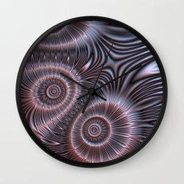 Bronze flower ornament Wall Clock