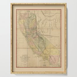 State of California Map (1851) Serving Tray
