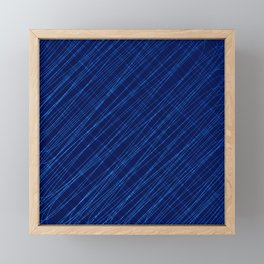 Cross ornament of their blue threads and iridescent intersecting fibers. Framed Mini Art Print