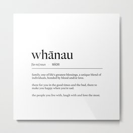 Maori Whanau (Family) Definition Metal Print