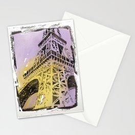 Eiffel Tower on Champ de Mars- Paris, France.  Eiffel Tower art Stationery Cards