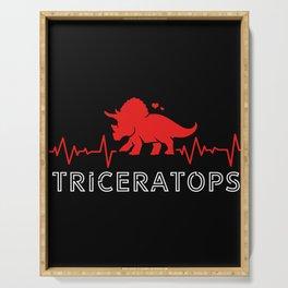 Triceratops Heartbeat Dinosaur Serving Tray