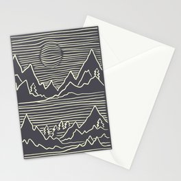 A Perfect Adventure - Outdoor Abstract Grey Stationery Cards