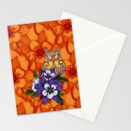 Columbine Paisley Owl Stationery Cards