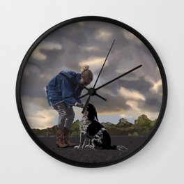 A Dog and His Girl Wall Clock