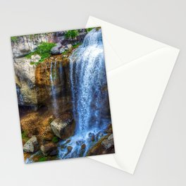 paulina falls stream beautiful nature stones waterfall usa oregon Stationery Cards