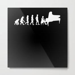 Evolution Pianist Metal Print