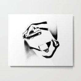 Spraying Hands Metal Print