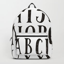 Alphabet A-Z Black and White Backpack