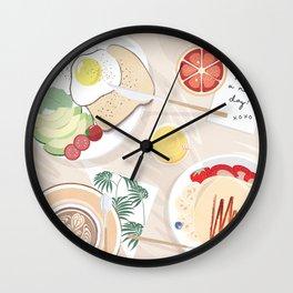 Breakfast in Bed (Los Angeles) Wall Clock