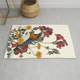 Little Bird and Flowers Rug