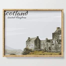 Eilean Donan Castle Scotland United Kingdom Serving Tray
