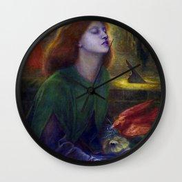 Dante Gabriel Rossetti Beata Beatrix Wall Clock