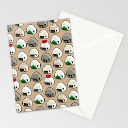 Onigiri Rice Balls Pug Stationery Cards