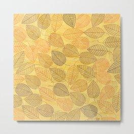 LEAVES ENSEMBLE YELLOW Metal Print