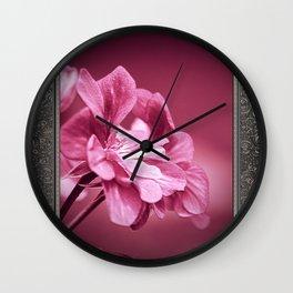 Ivy Geranium named Contessa Purple Bicolor Wall Clock